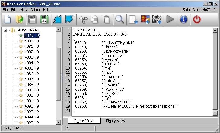 Edytowanie tekstów systemowych RM 2003 niedostępnych z poziomu edytora